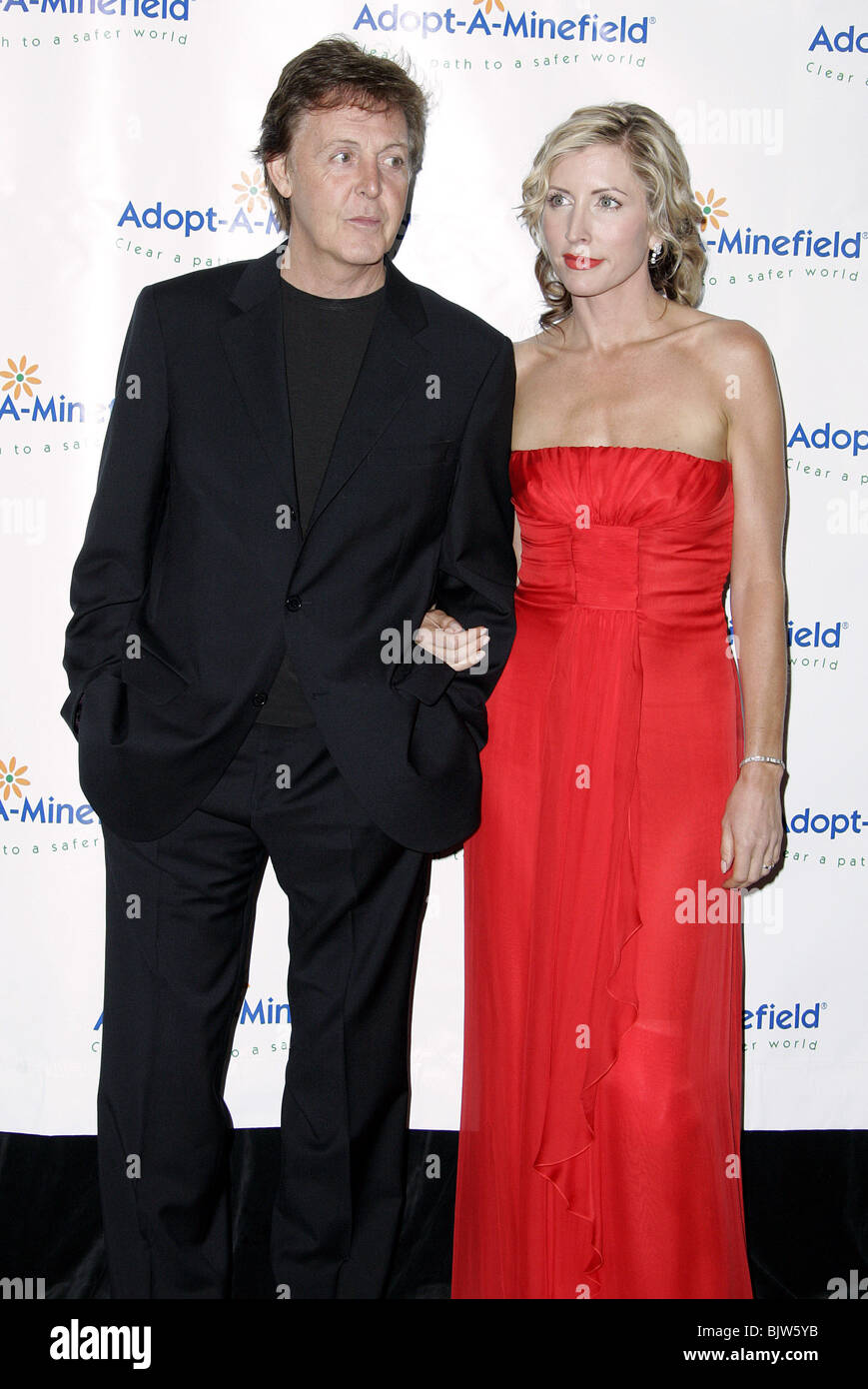PAUL MCCARTNEY HEATHER MILLS 4TH ADOPT A MINEFIELD GALA CENTURY PLAZA HOTEL CITY LOS ANGELES USA 15 Octob