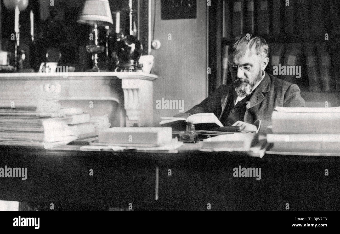 Rene Doumic, French literary critic and man of letters, 1922. - Stock Image