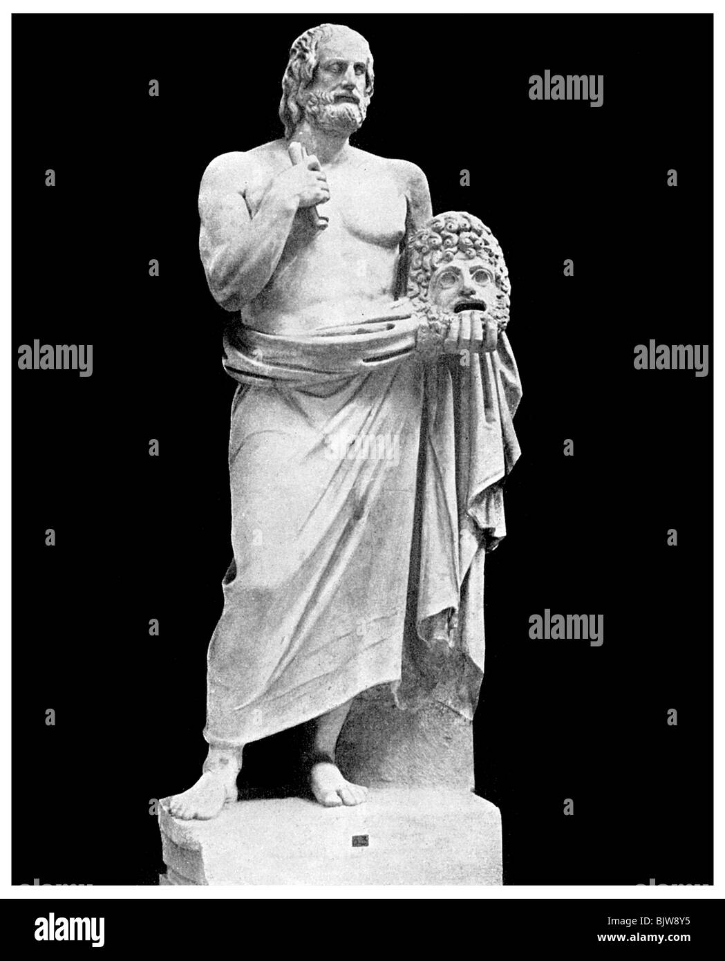 Dramatic unities: Euripides, Greek playwright, 5th century BC (1956). - Stock Image
