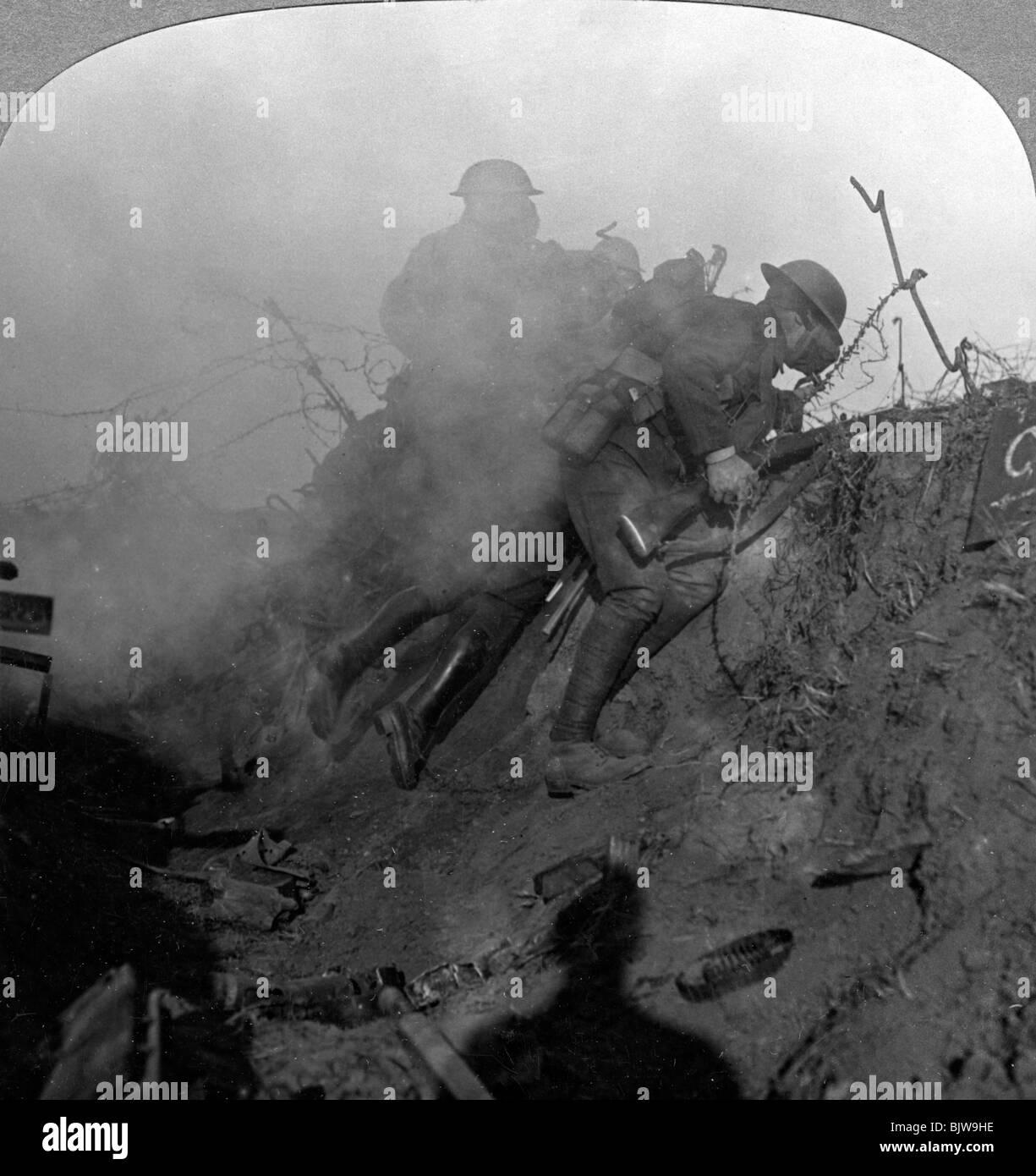 Trench warfare, Bourlon Wood, France, World War I, 1914-1918. - Stock Image