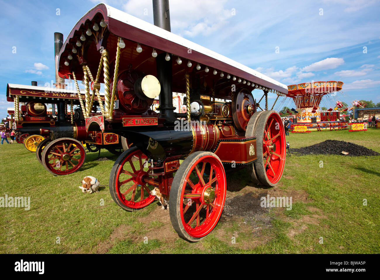 'The Wanderer' A John Fowler of Leeds Steam traction engines - Stock Image
