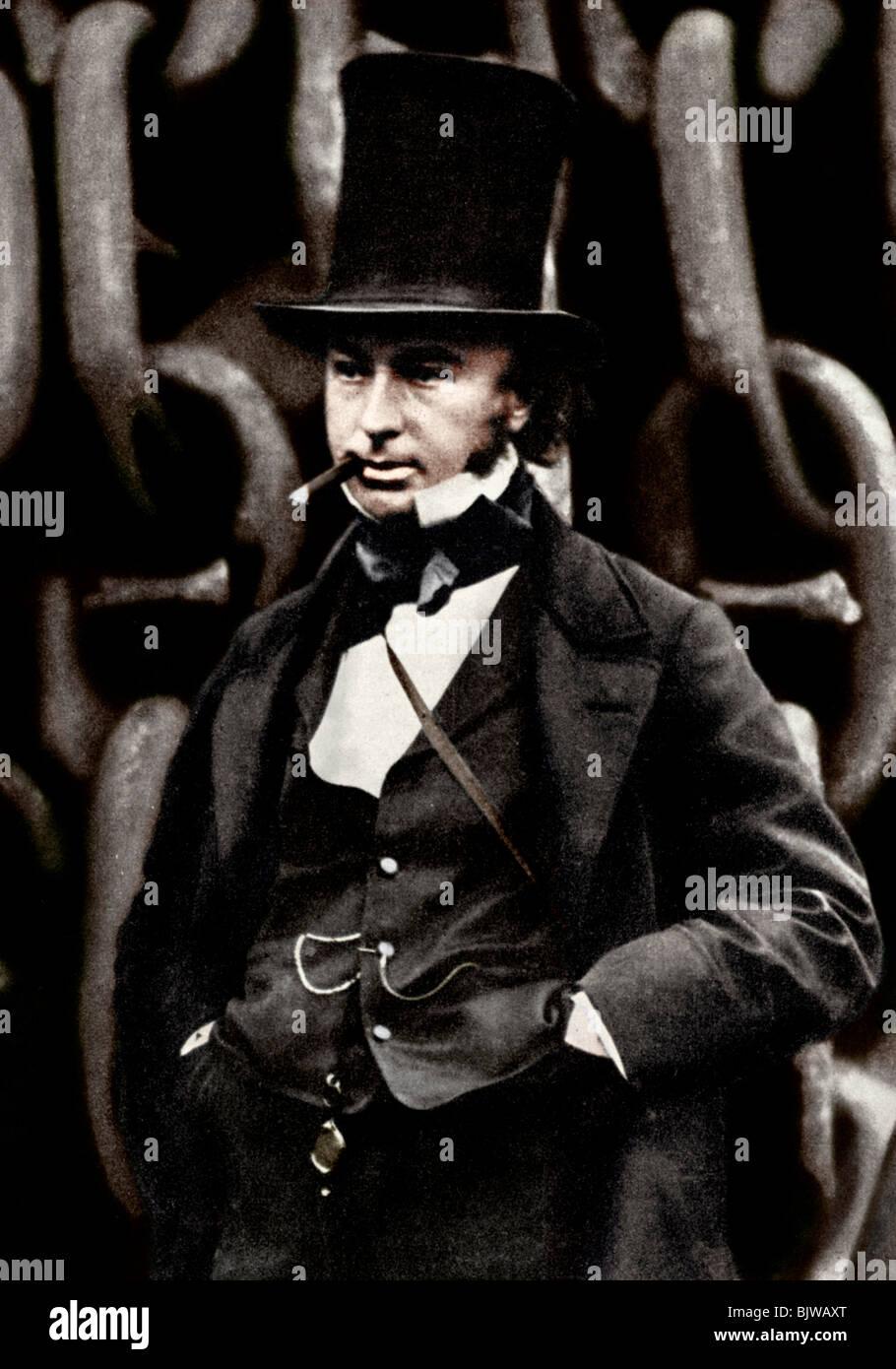Isambard Kingdom Brunel, British engineer, 1857 (1956). - Stock Image