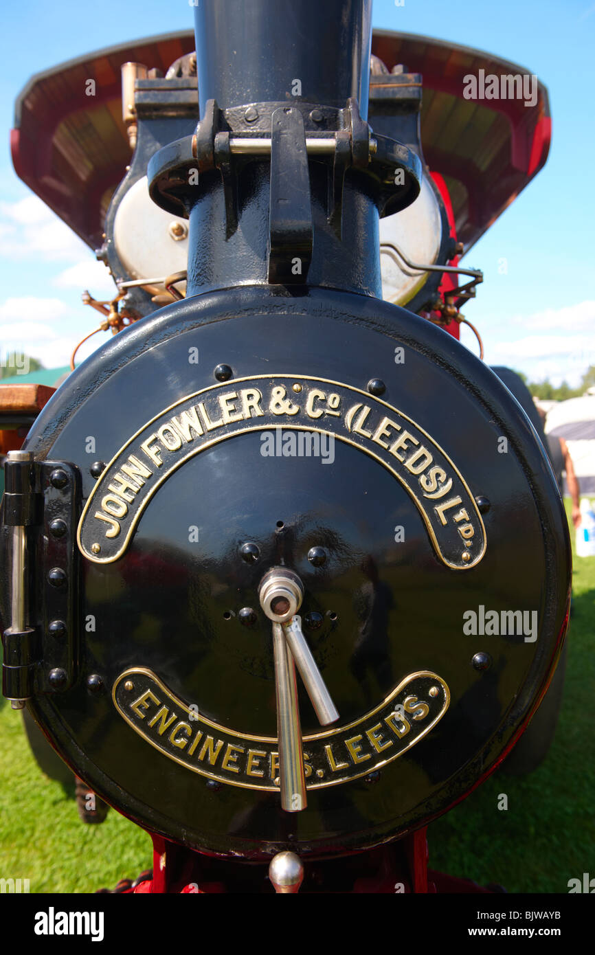 A John Fowler of Leeds steam traction engines - Stock Image