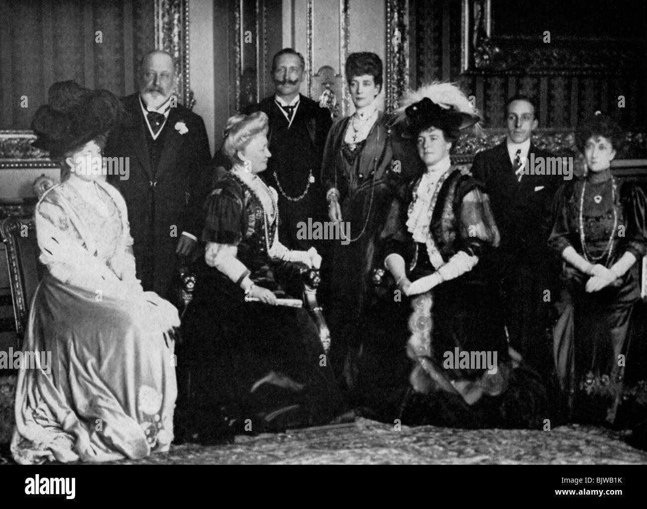 European royalty at Windsor Castle, 17th November 1907 (1964). Artist: Unknown - Stock Image
