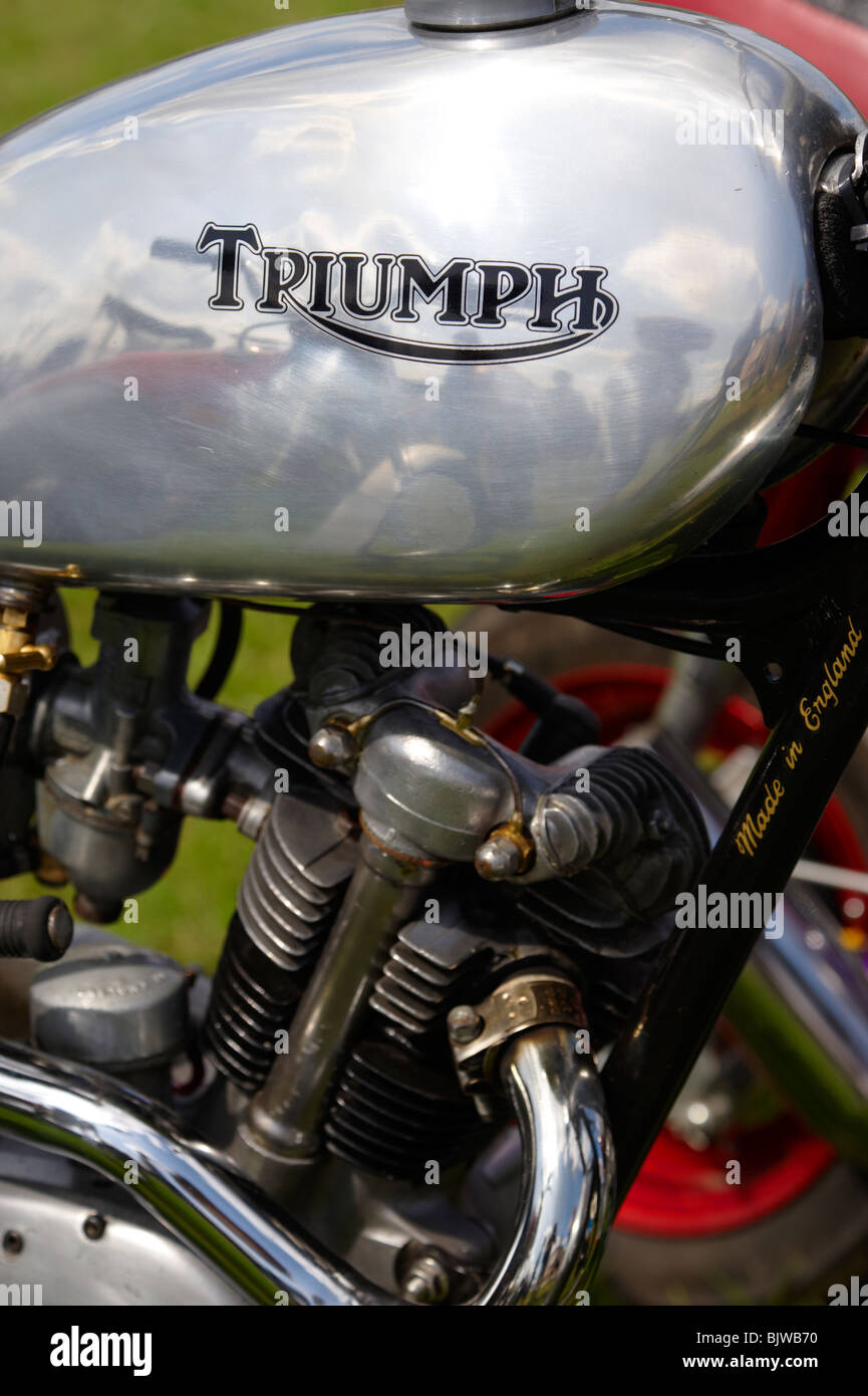 Old Triumph bike logo - Stock Image