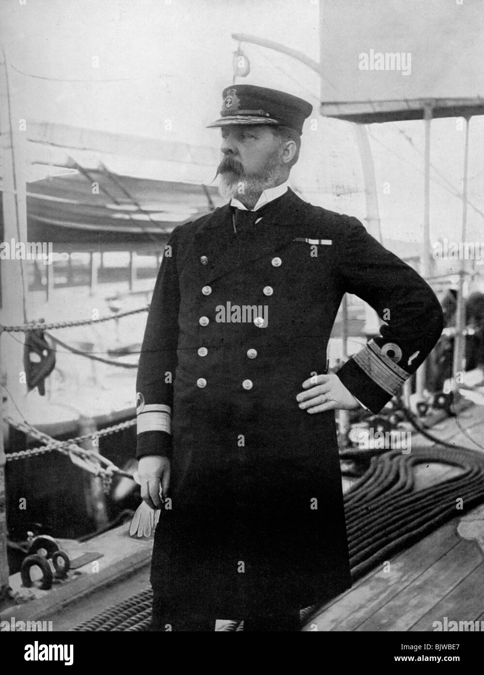 Rear-Admiral Henry Bury Palliser, commander of the British Pacific fleet, 1896. - Stock Image