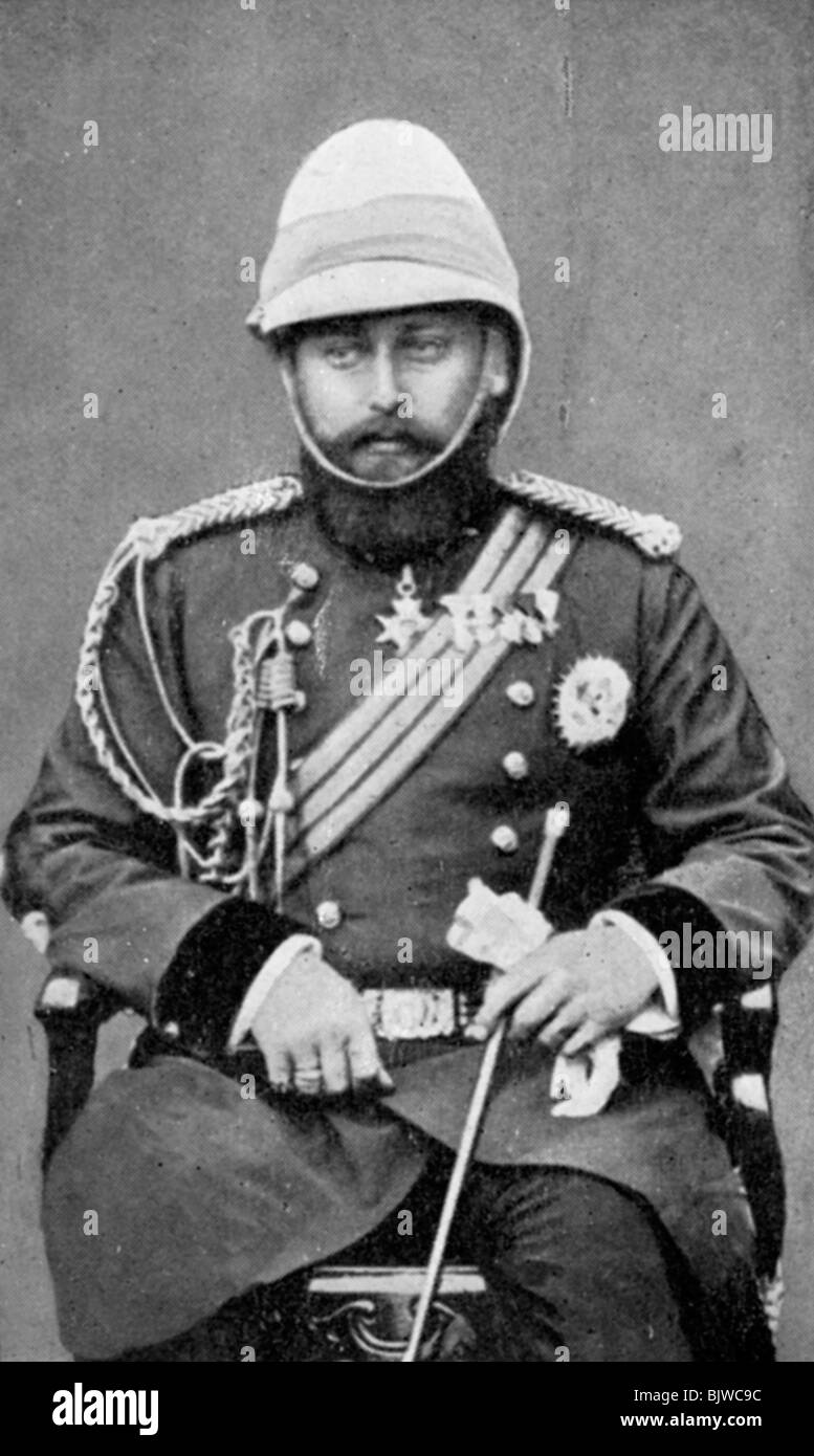 King Edward VII of the United Kingdom in military uniform, (1910). - Stock Image