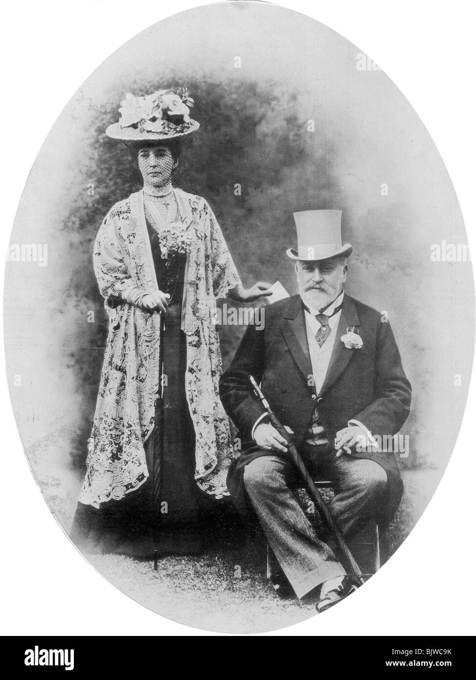 King Edward VII and Queen Alexandra, c1900s (1910). - Stock Image