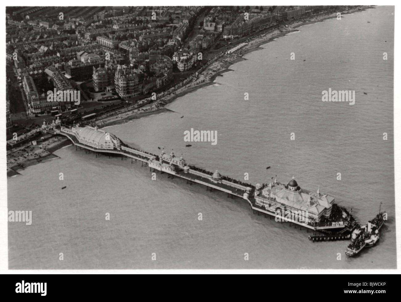 Aerial view of Eastbourne, Sussex, from a Zeppelin, 1931 (1933). Artist: Unknown - Stock Image