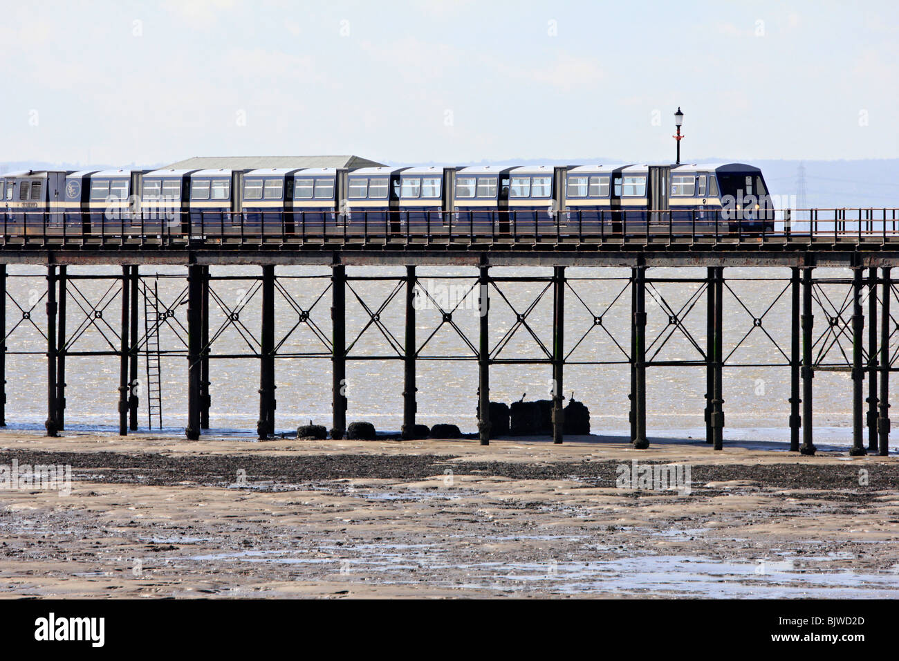 Southend Pier is a major landmark in Southend-on-Sea essex england uk gb - Stock Image