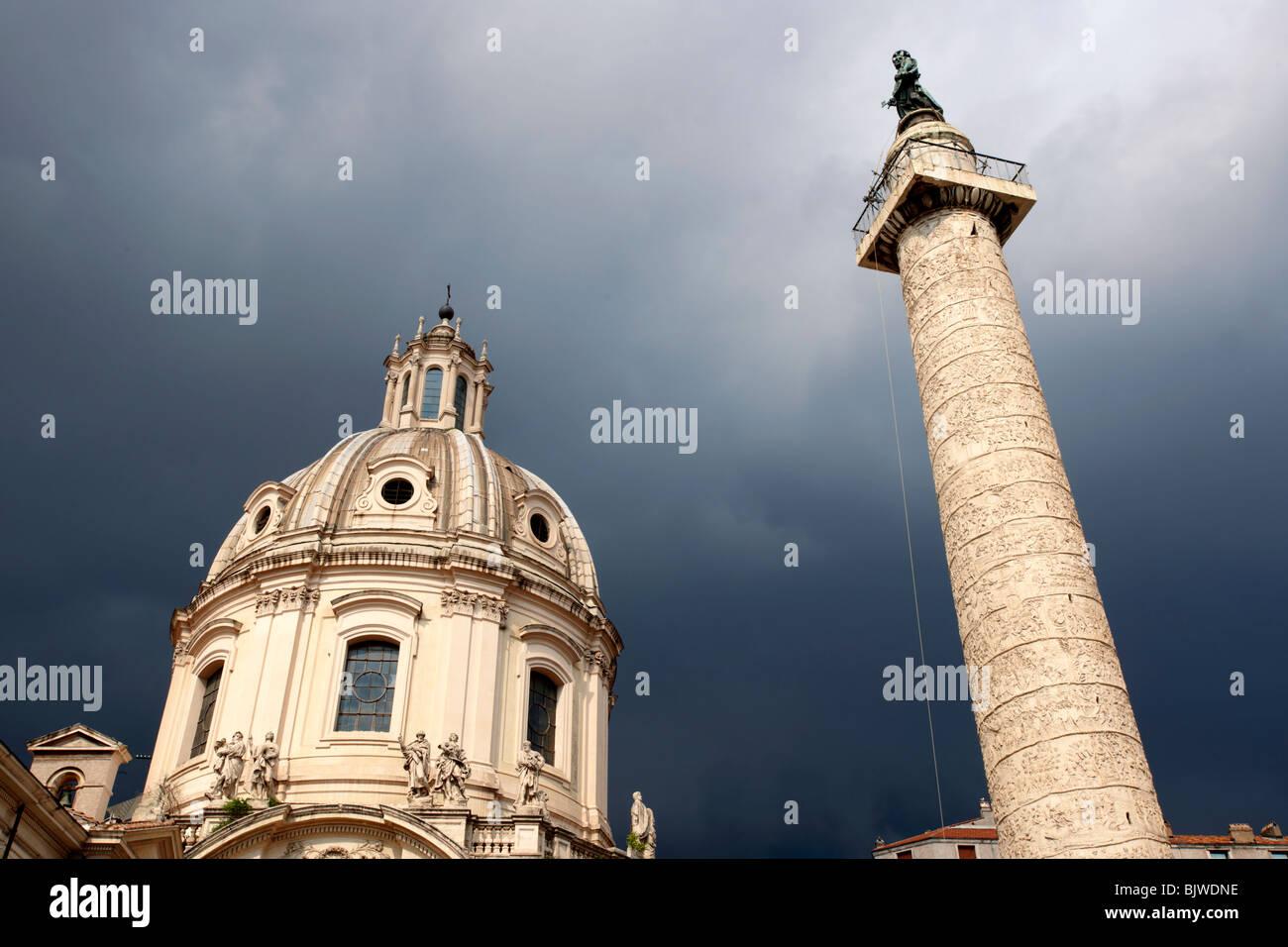 Trajans Column . Rome - Stock Image