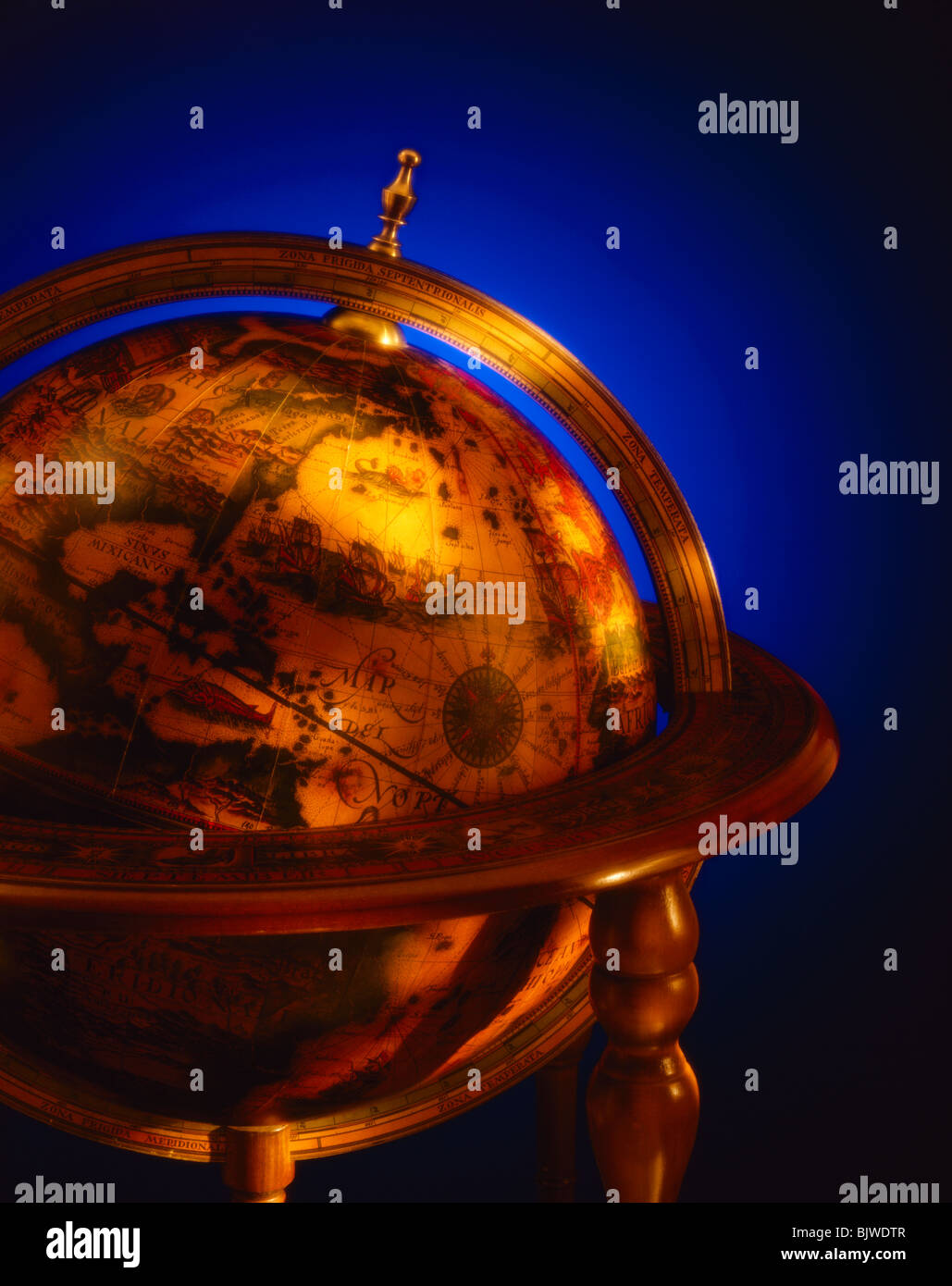 Antique Globe - Stock Image