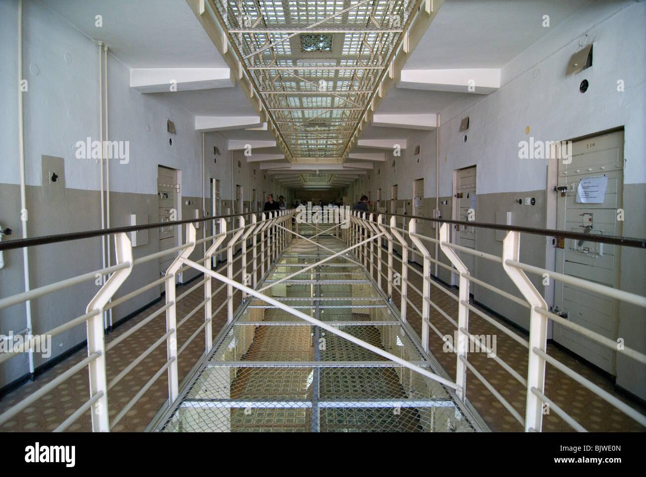 Memorial place Stasi prison in Rostock - Stock Image