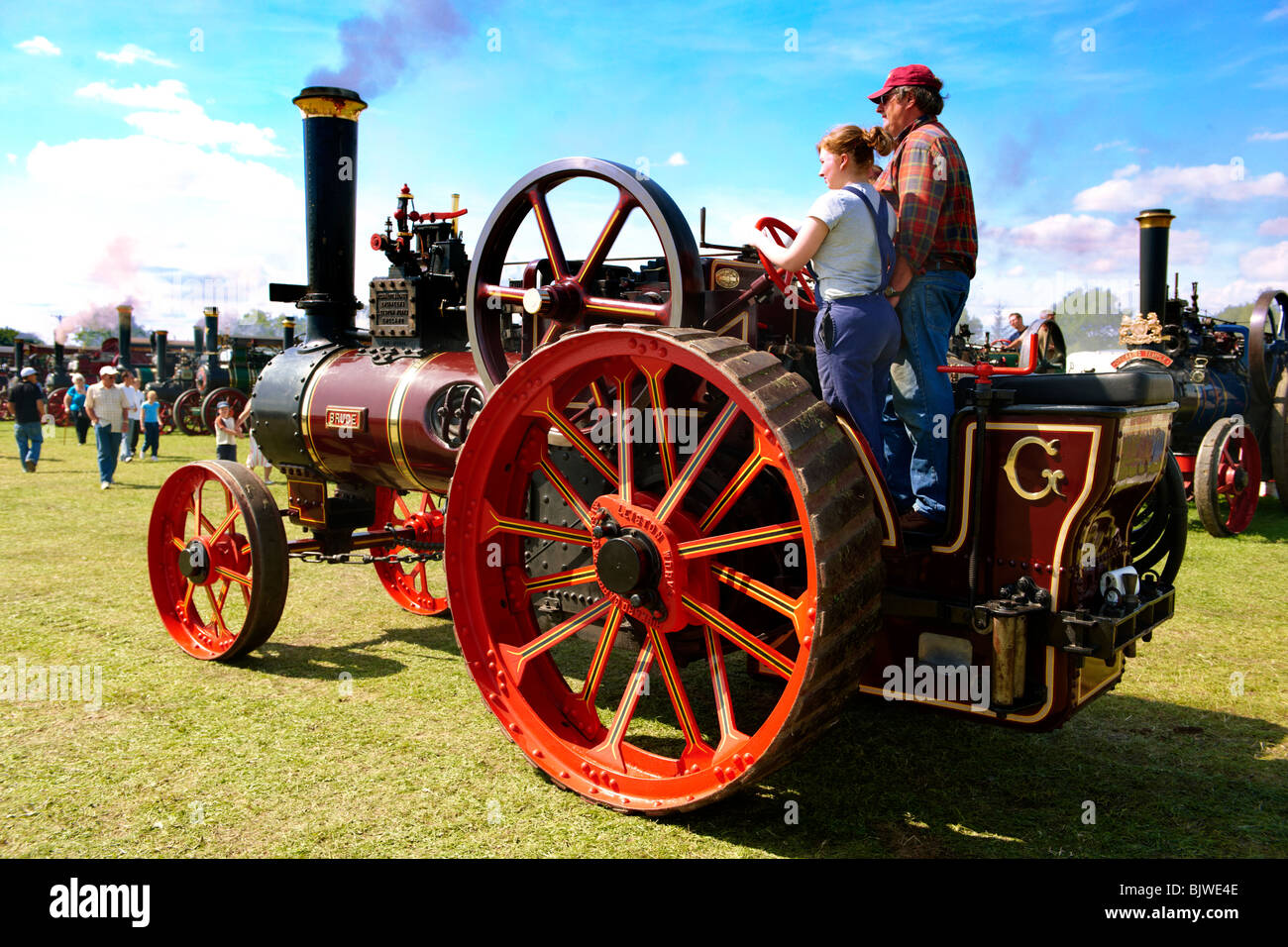 A Richard Garret and son of Leiston steam traction engines - Stock Image