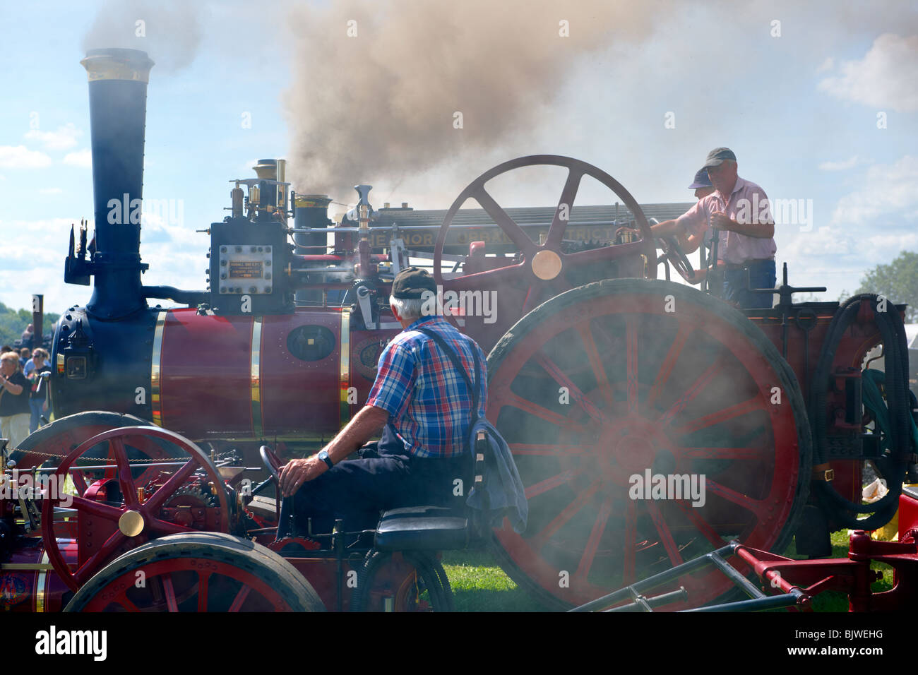 Steam traction engines - Stock Image
