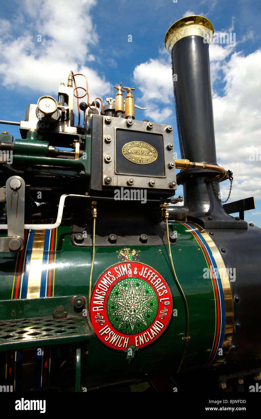 A Ransomes, Sims and Jeffersons of Ipswich steam traction engines - Stock Image
