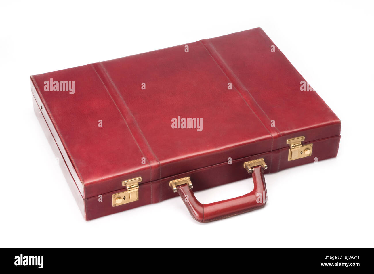 briefcase full of American money - Stock Image