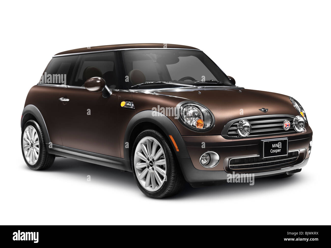 2010 Mini Cooper 50 Mayfair car isolated with clipping path on white background - Stock Image