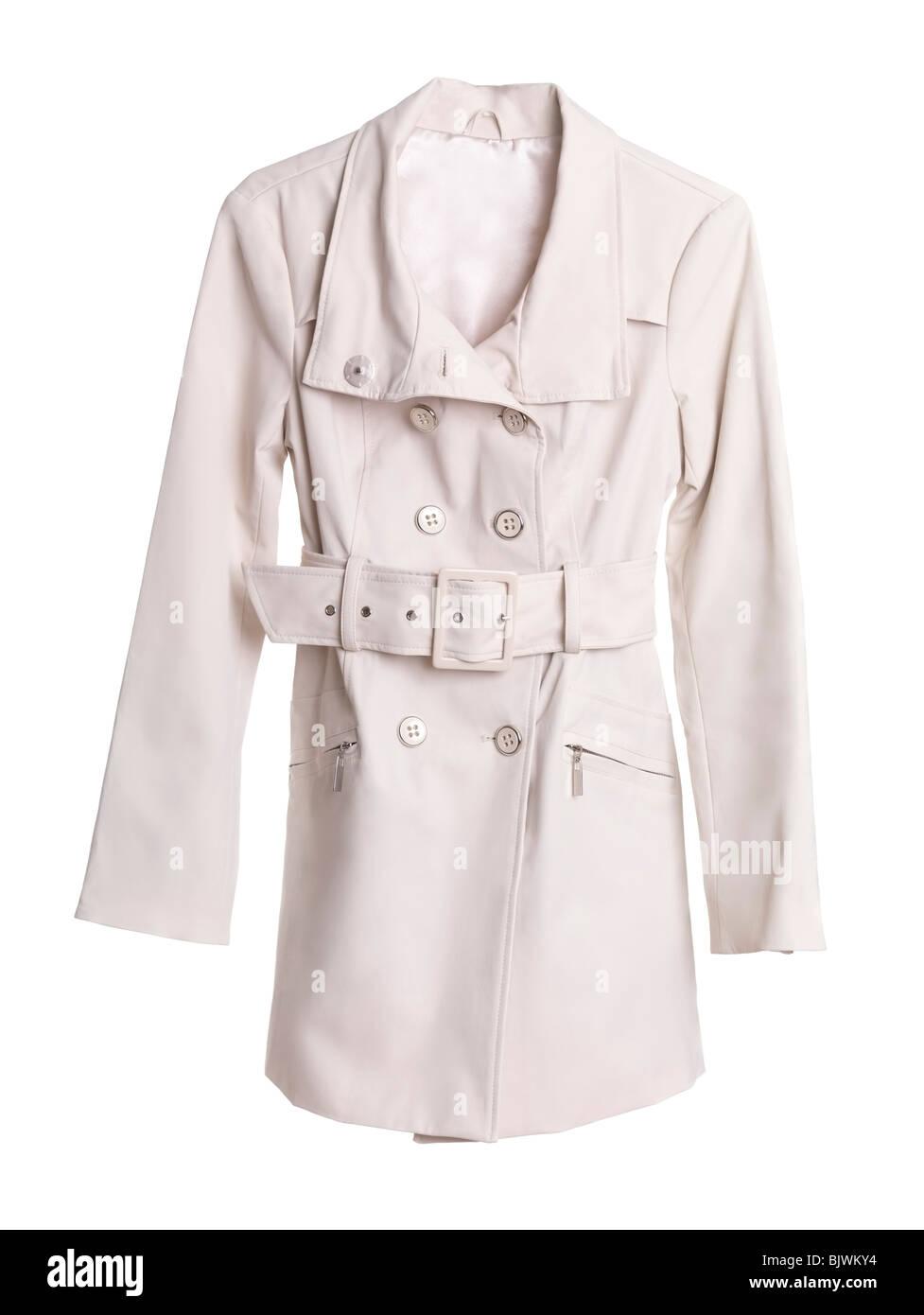 Trench coat isolated on white background - Stock Image