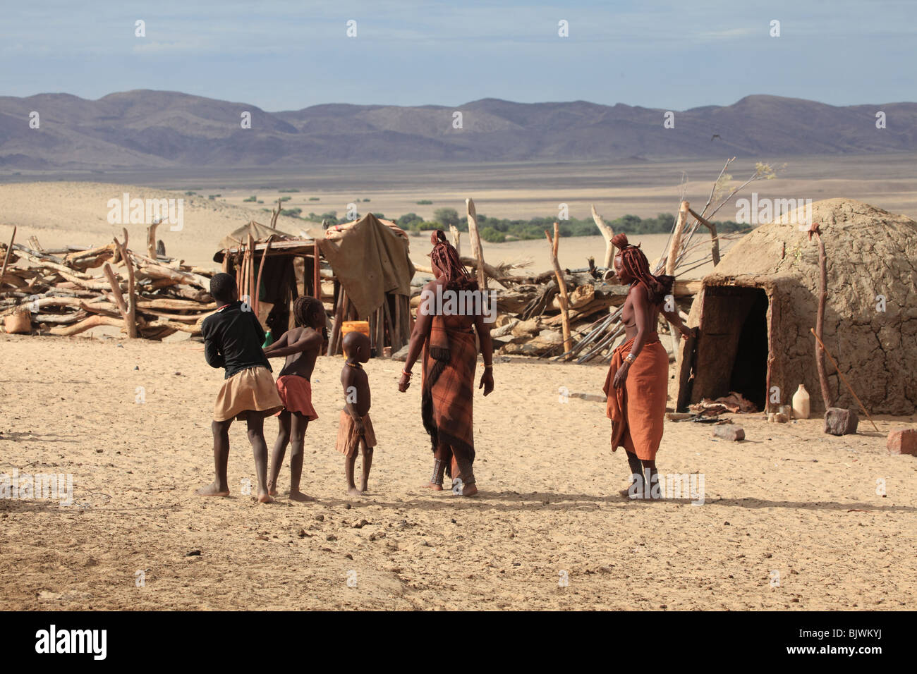 Tribal Himba Village - Stock Image
