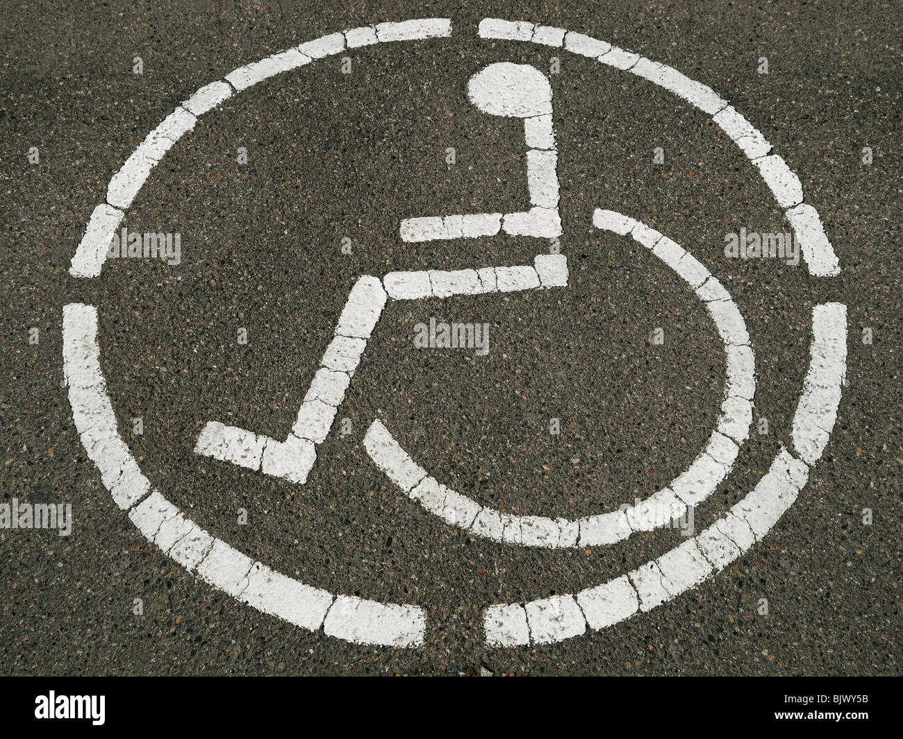 Disabled Access Sign - Stock Image