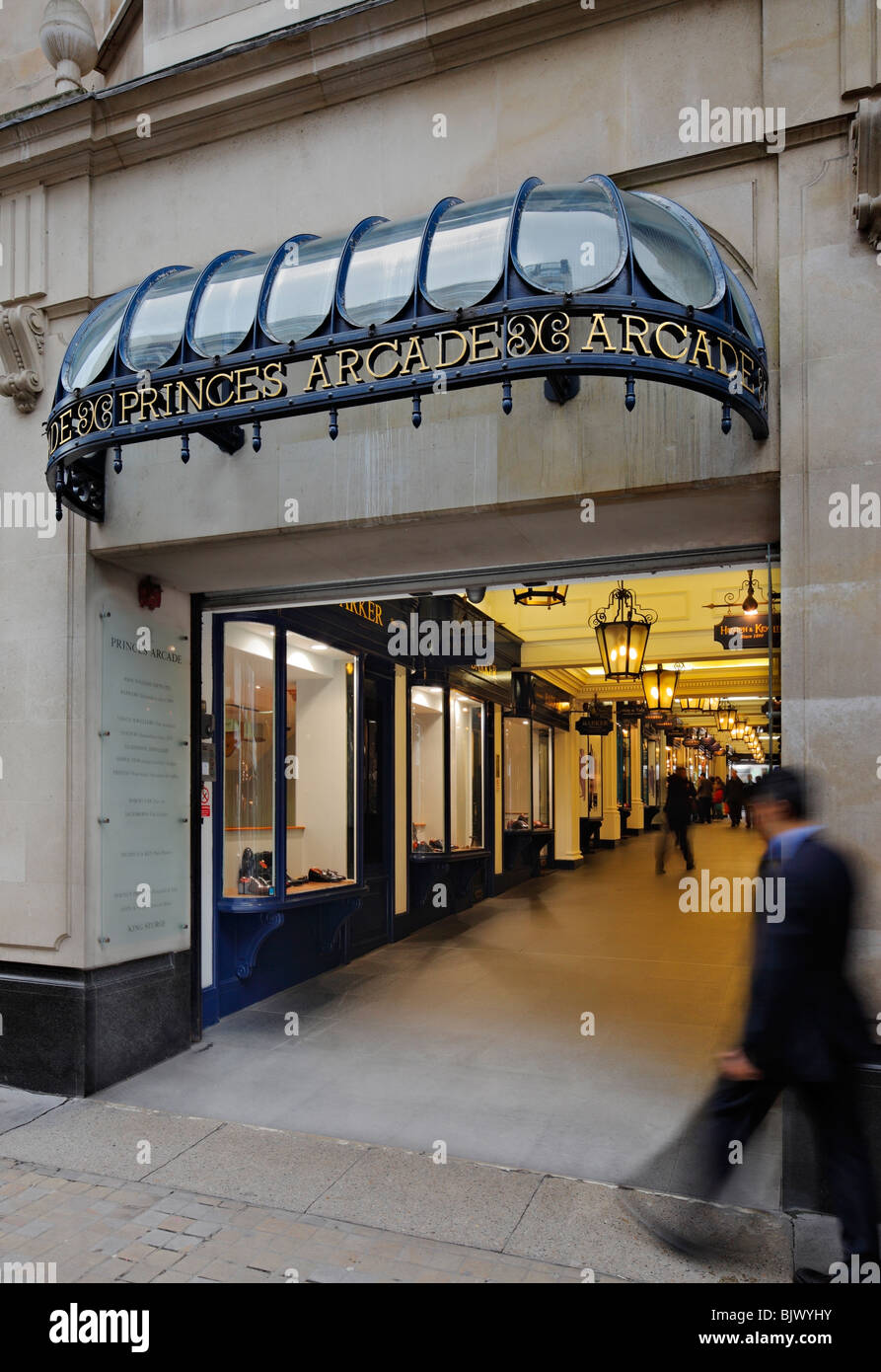 The Princes Arcade in Piccadilly. - Stock Image