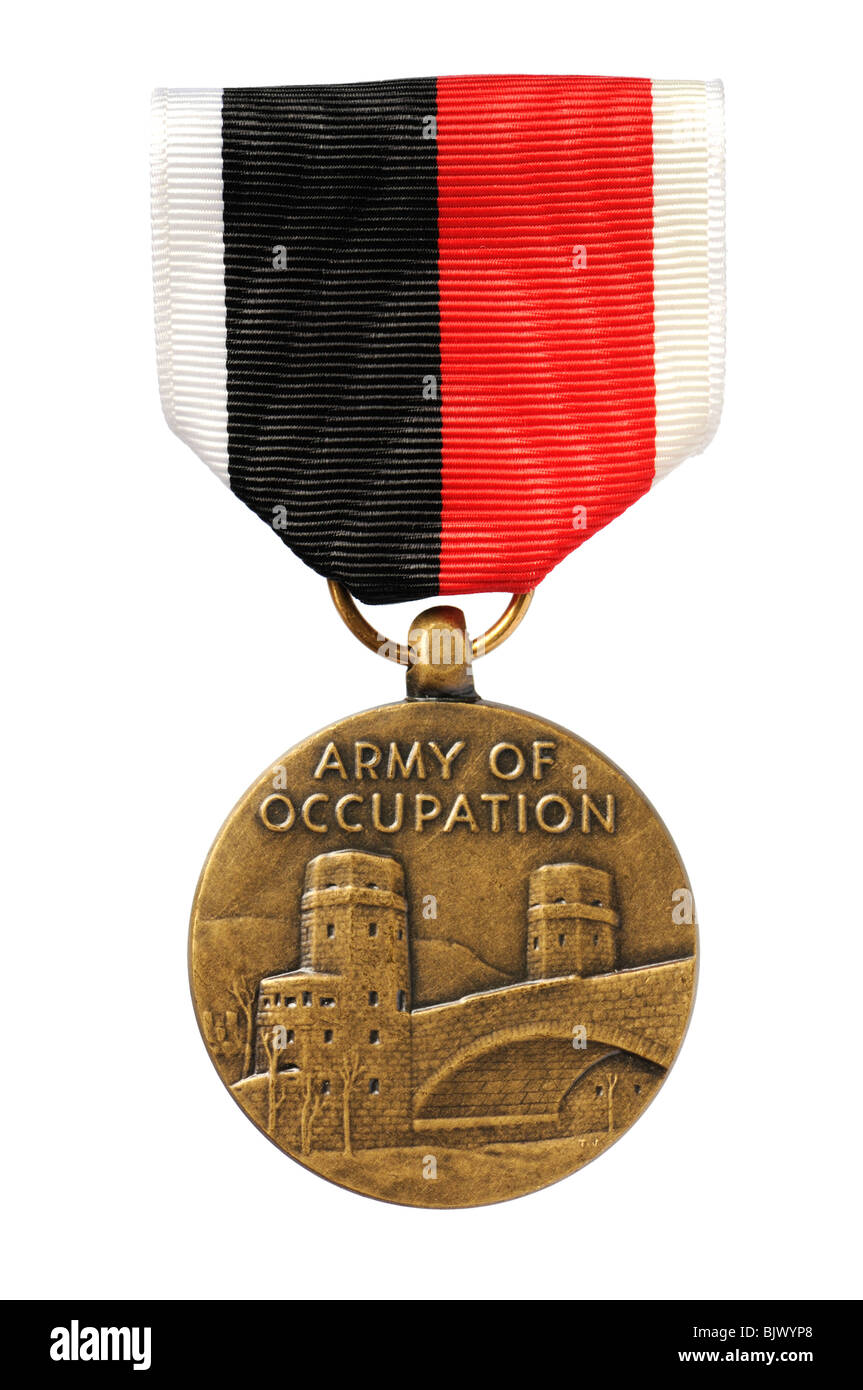 US Second World War Army of Occupation medal - Stock Image