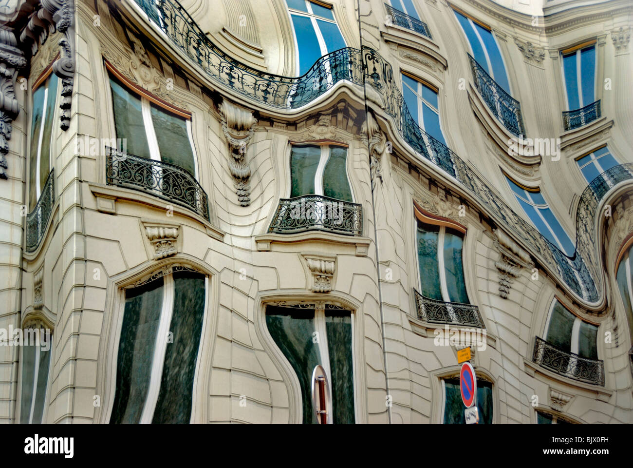 Paris, France, Surrealist Public Art on 'Bleecker Corp.' Headquarters Building, - Stock Image