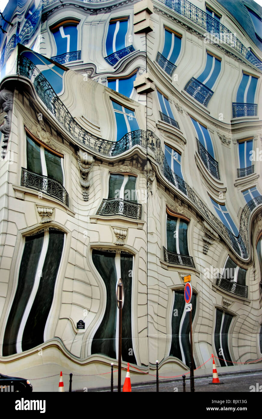 Paris, France, Surrealist Public Art on 'Bleecker Corporation'. Headquarters Building, - Stock Image
