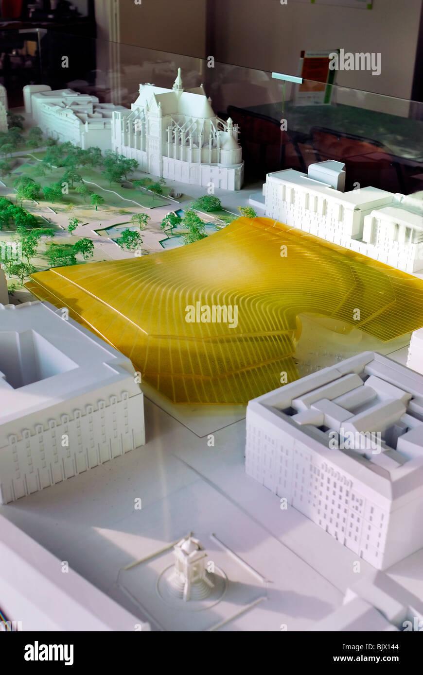 Paris, France, Architectural Model of the Les Halles 'Commercial Center' project, Design - Stock Image