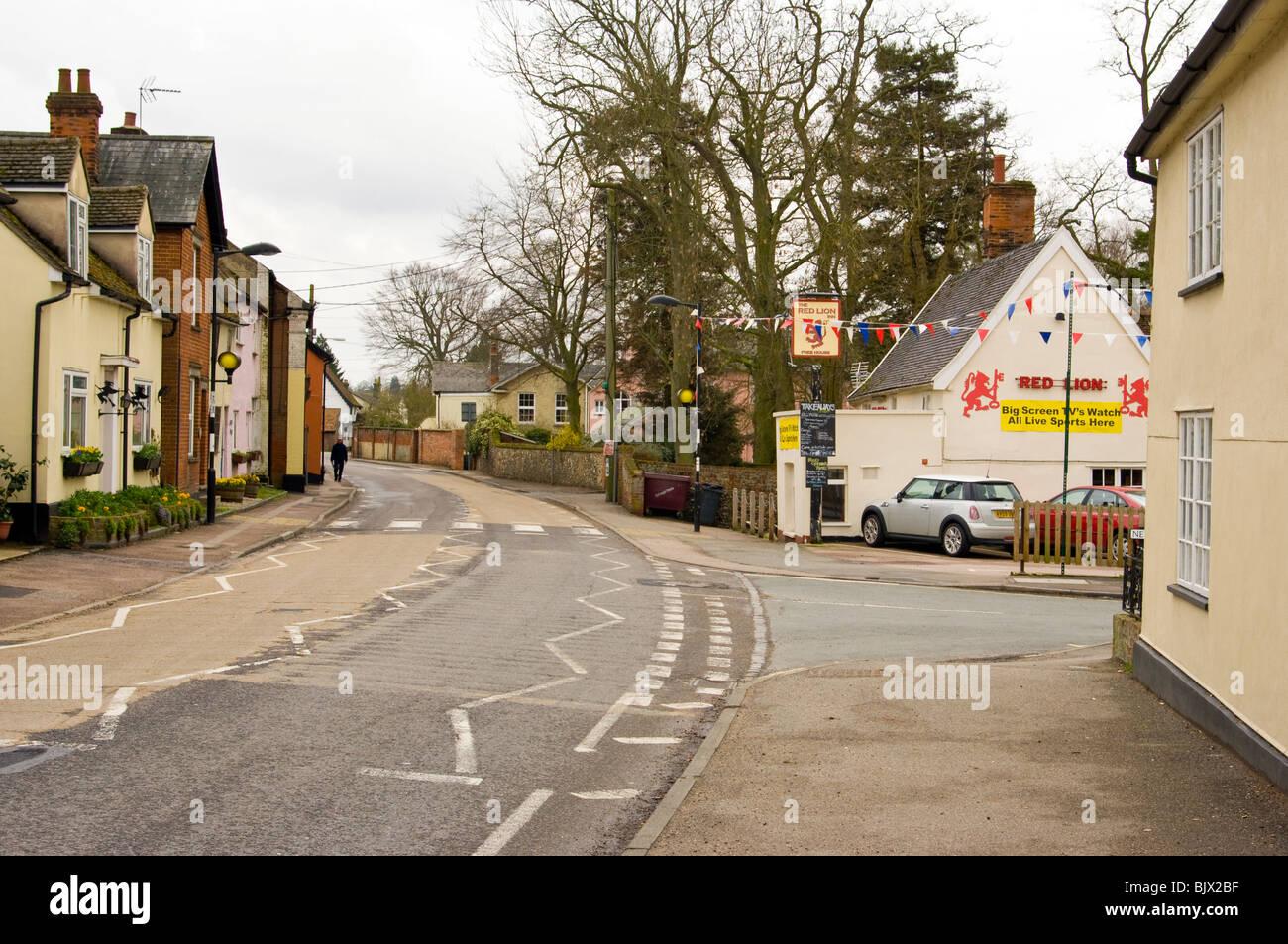 High Street Bildeston Suffolk - Stock Image