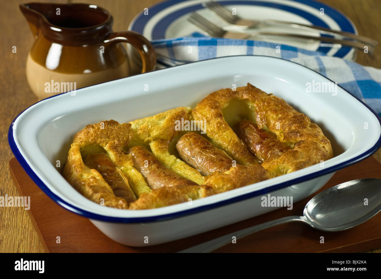Toad in the hole Food UK - Stock Image