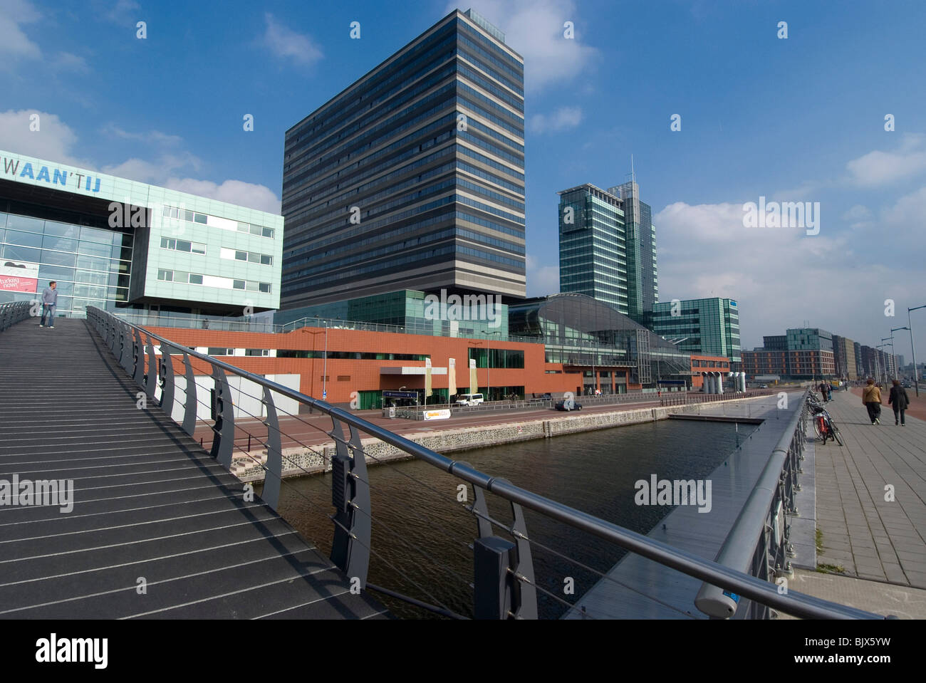 Movenpick Hotel in the newly developed area of the Eastern docklands, Amsterdam, Netherlands - Stock Image