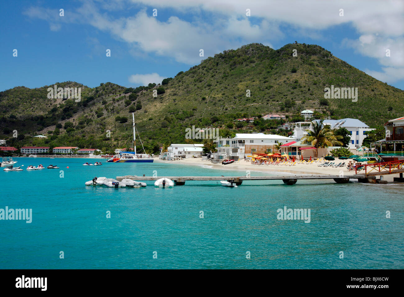 Grand Case Bay , St.Martin French caribbean. - Stock Image