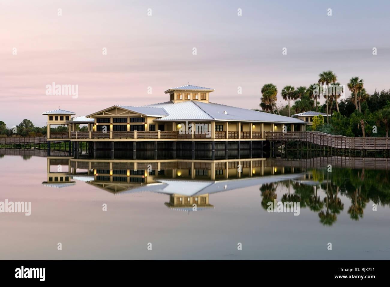Interpretive Center - Green Cay Wetlands - Boynton Beach, Florida USA - Stock Image