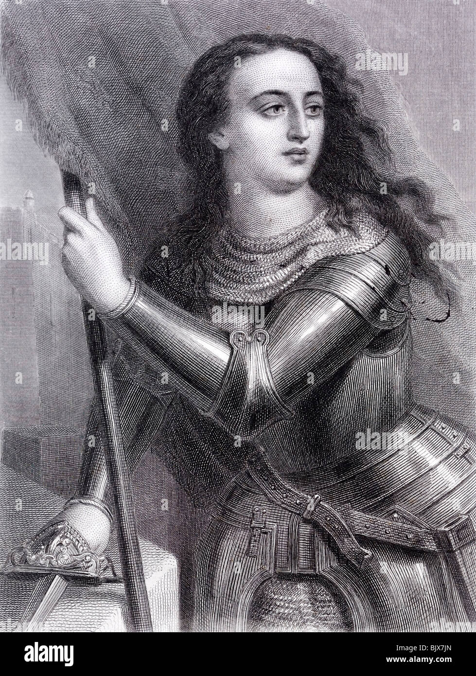 Saint Joan of Arc or The Maid of Orléans The national heroine of France and a Catholic Saint - Stock Image