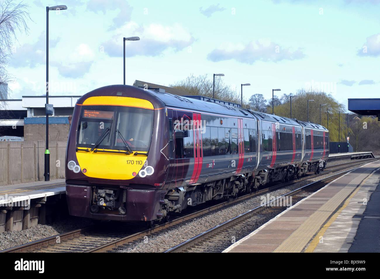 Arriva Cross Country train at Tamworth station, Staffordshire, England, UK - Stock Image