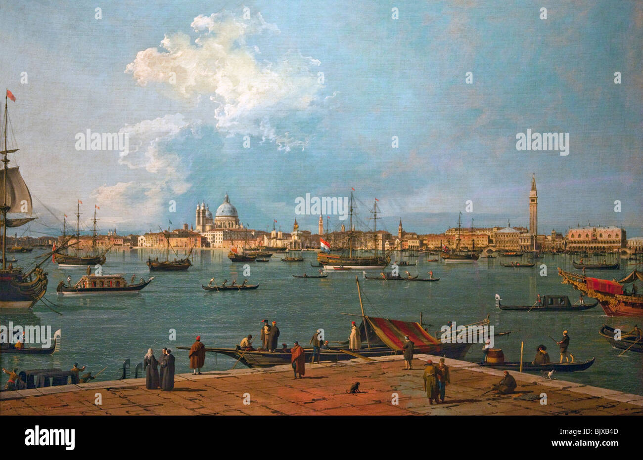 Bacino di San Marco from San Giorgio Maggiore by Canaletto Wallace Collection London England Great Britain United - Stock Image