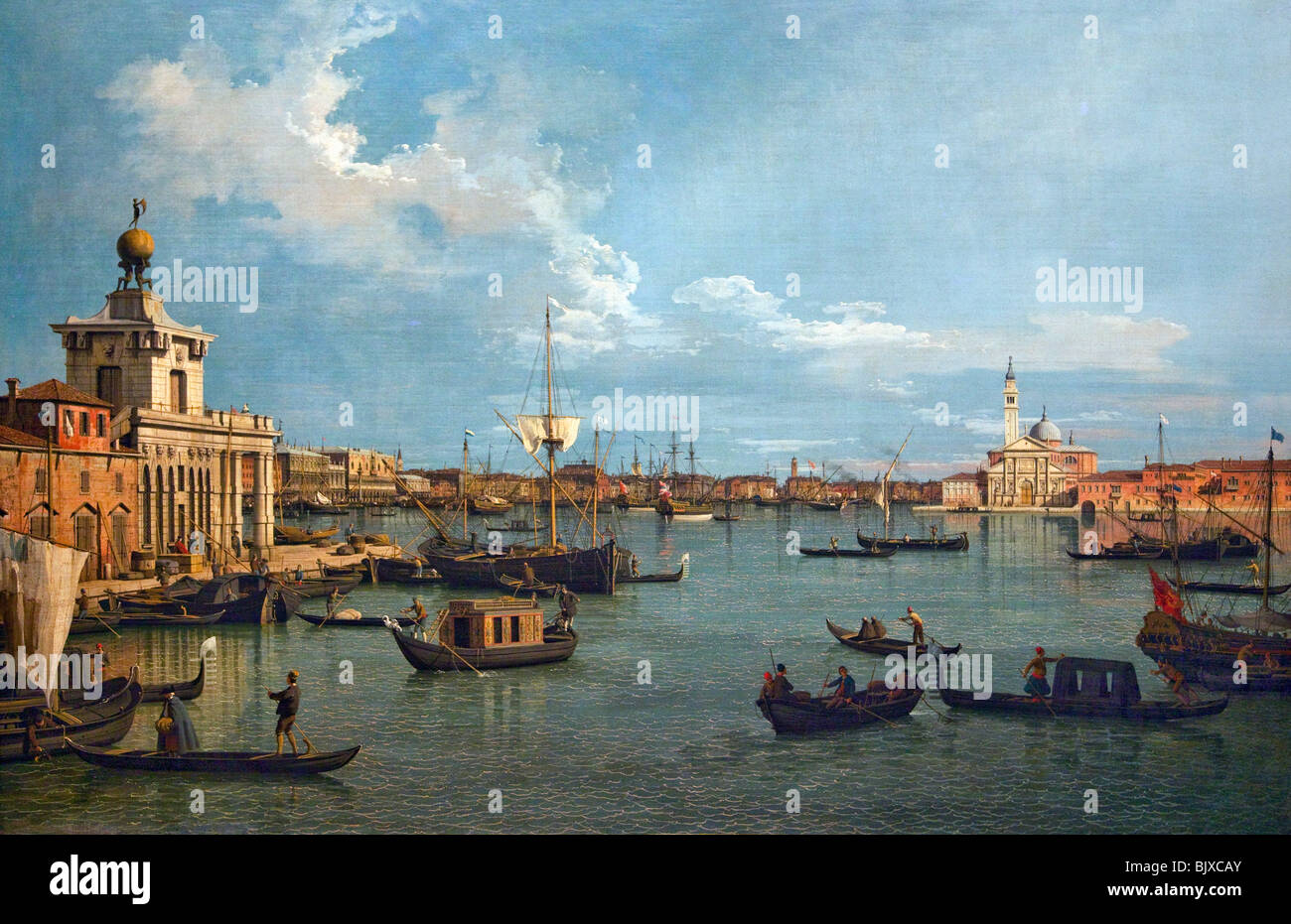 Bacino di San Marco from Canale della Giudecca by Canaletto Wallace Collection London England Great Britain United - Stock Image