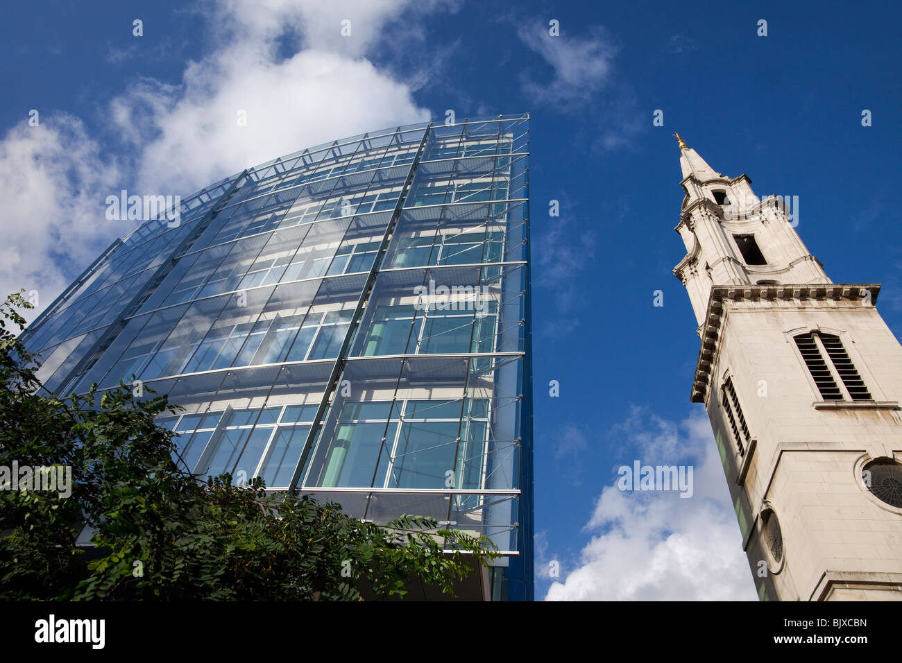 Old versus new architecture in London near St Pauls London England Great Britain United Kingdom UK GB British Isles - Stock Image