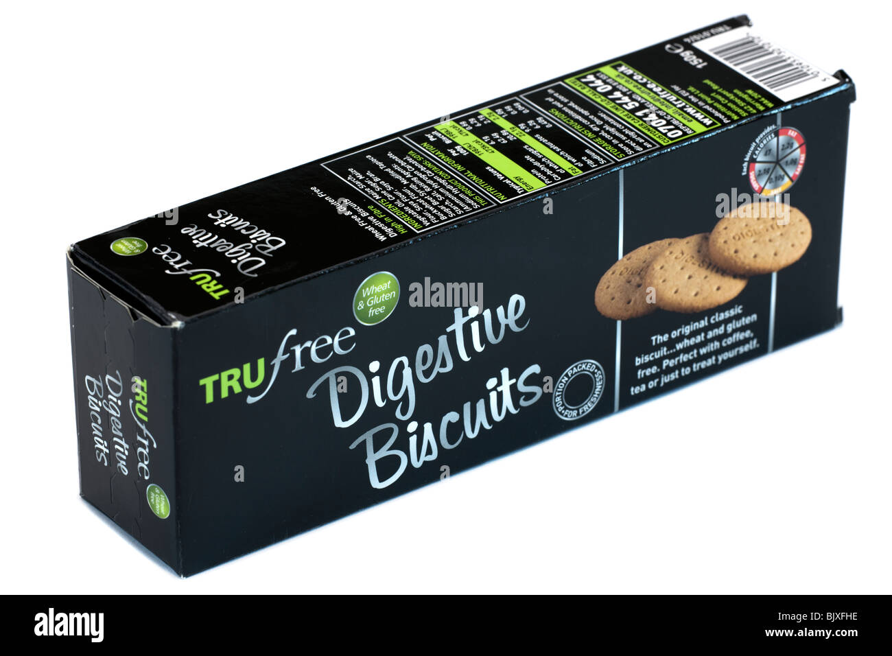 Box of Trufree Digestive biscuits - Stock Image