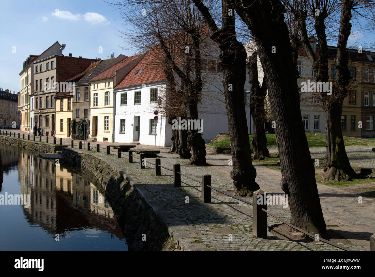 Historic buildings in Wismar, Mecklenburg-Western Pomerania, Germany. - Stock Image