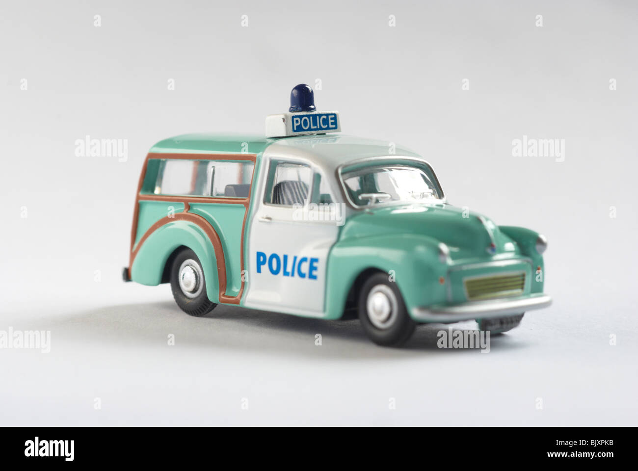 Austin Morris minor traveller police car Stock Photo