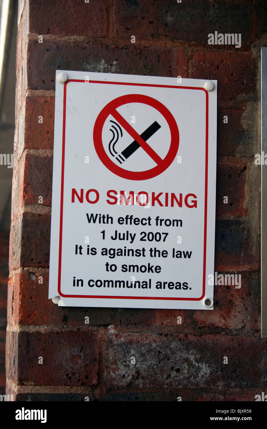 No smoking becomes law on 1st July 2007 - Stock Image