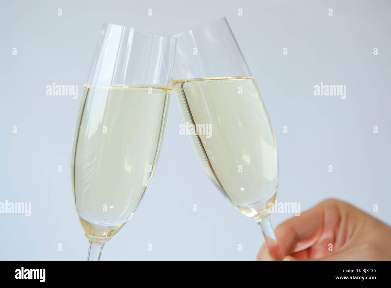 A pair of champagne flute - Stock Image
