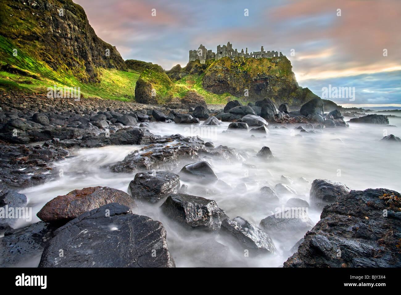 Dunluce Castle, Antrim Coast. Stock Photo