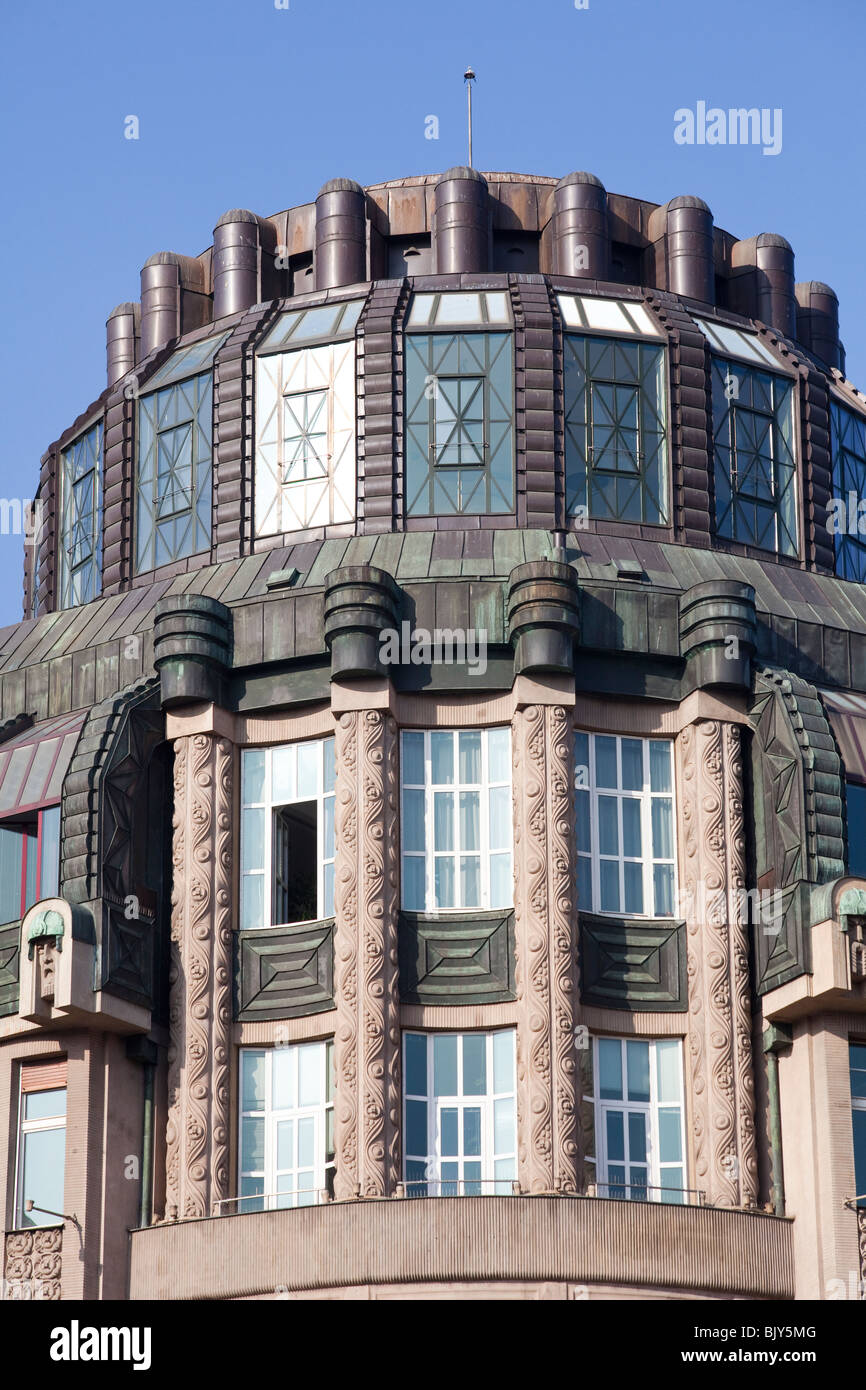Former Moravian bank building, 38/40 Wenceslas Square, Prague, Czech Republic - Stock Image