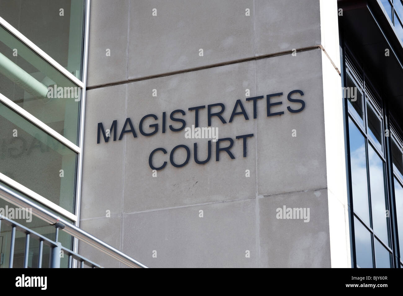 Hereford magistrates court, UK. Law court in Hereford City Centre. - Stock Image