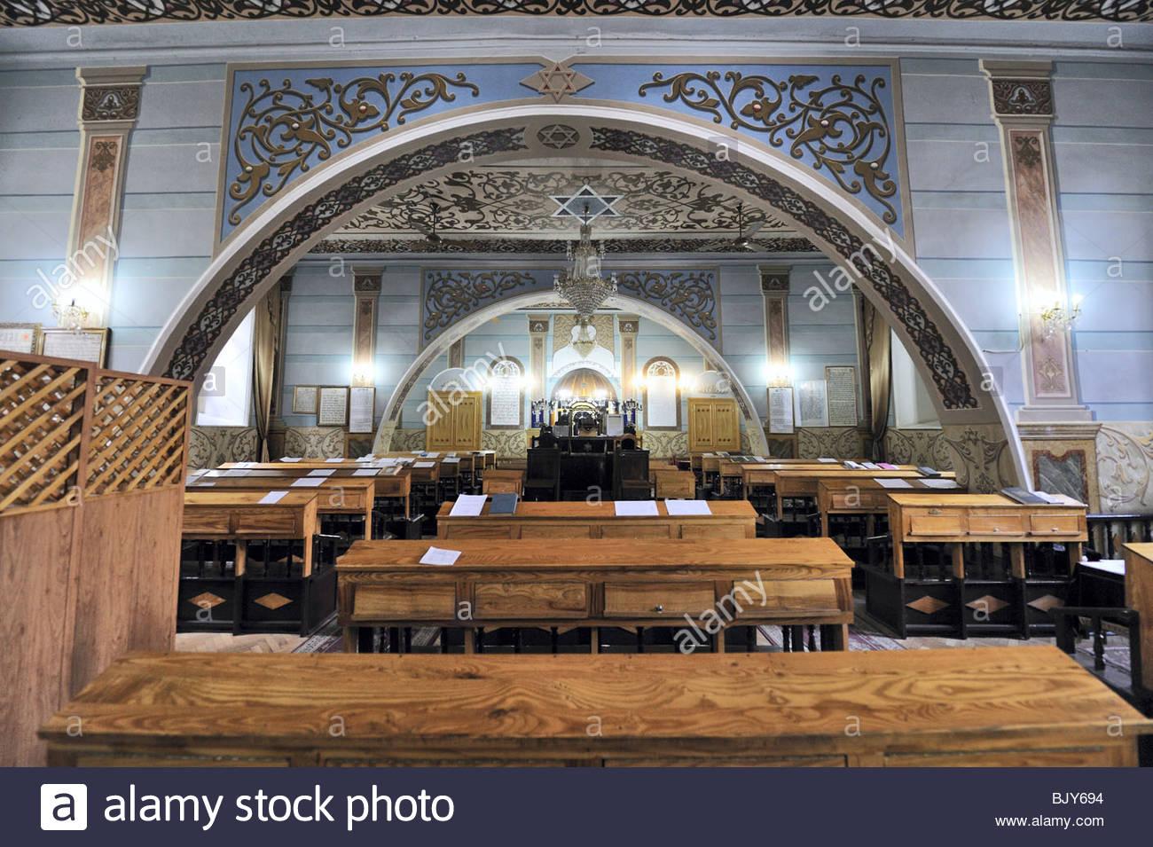 interior shot of synagogue, Tbilisi, Georgia - Stock Image