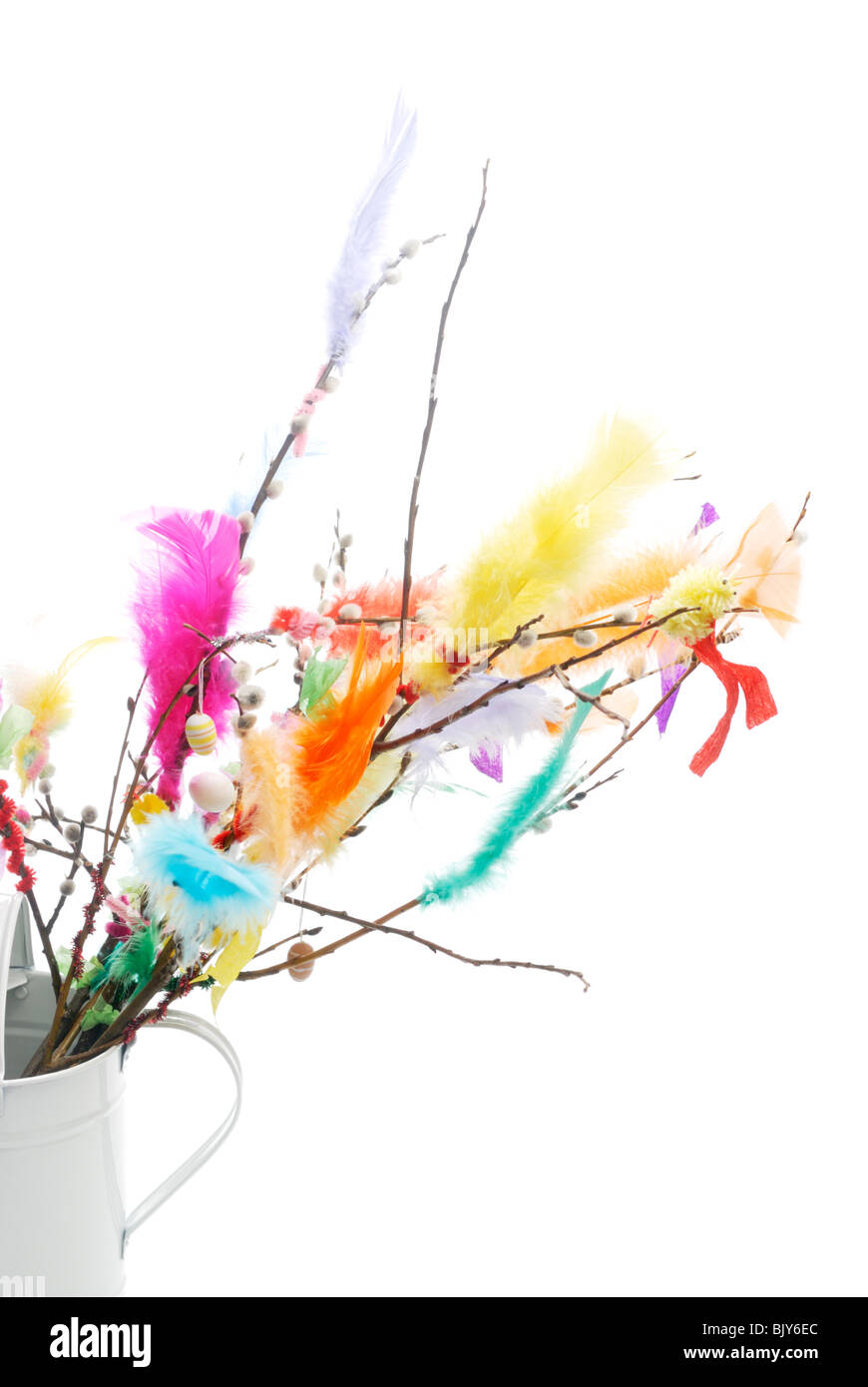 Traditional scandinavian easter decorations - Stock Image